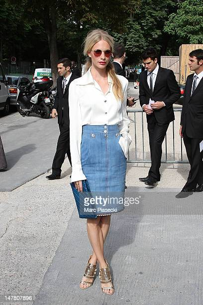 Poppy Delevingne attends the Chanel HauteCouture Show as part of Paris Fashion Week Fall / Winter 2013 at Grand Palais on July 3 2012 in Paris France