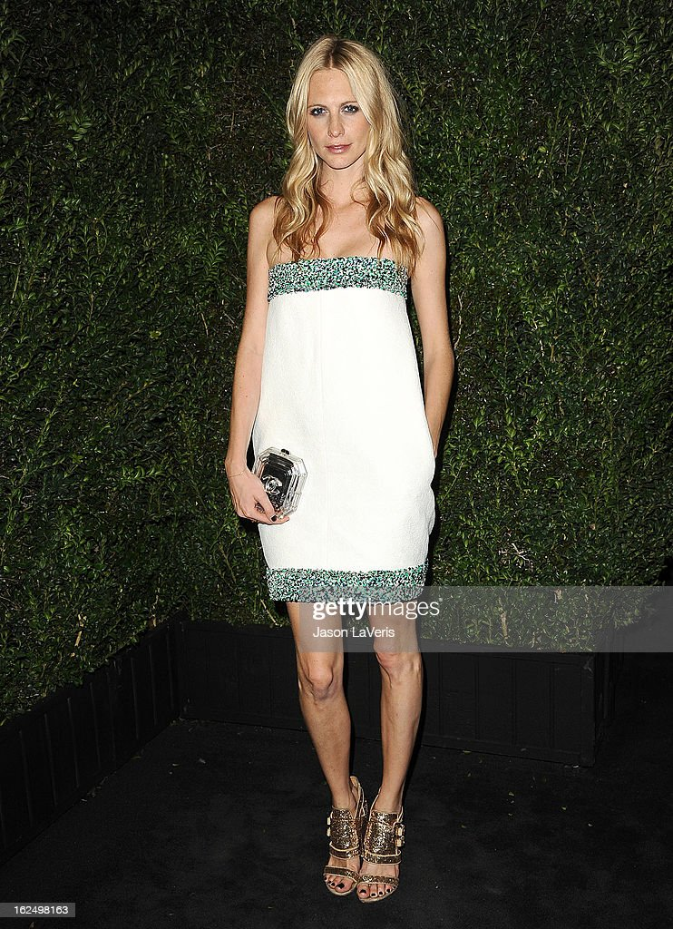 Poppy Delevingne attends the Chanel Pre-Oscar dinner at Madeo Restaurant on February 23, 2013 in Los Angeles, California.