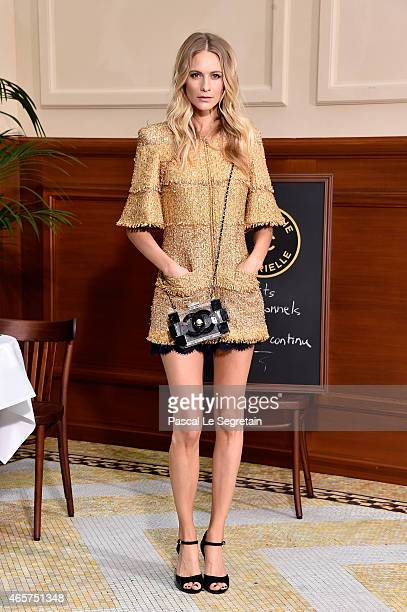 Poppy Delevingne attends the Chanel show as part of the Paris Fashion Week Womenswear Fall/Winter 2015/2016 on March 10 2015 in Paris France