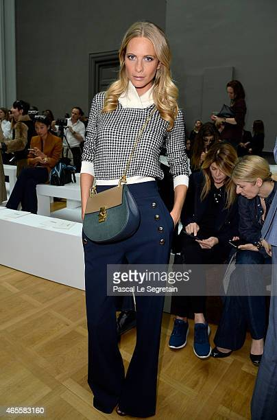 Poppy Delevingne attends the Chloe show as part of the Paris Fashion Week Womenswear Fall/Winter 2015/2016 on March 8 2015 in Paris France