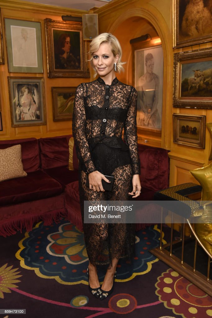 Poppy Delevingne attends the Conde Nast Traveller 20th anniversary after party at Annabel's on October 9, 2017 in London, England.