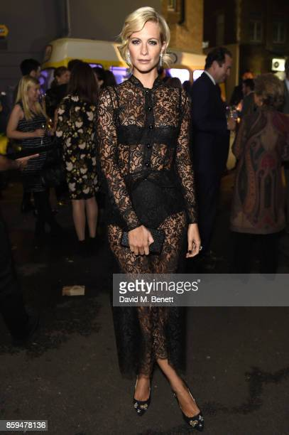 Poppy Delevingne attends the Conde Nast Traveller 20th anniversary party at Vogue House on October 9 2017 in London England