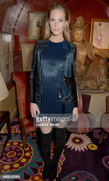 Poppy Delevingne attends the dinner hosted by Olivier Rousteing to mark the opening of Balmain's first London store at Annabel's on March 16 2015 in...
