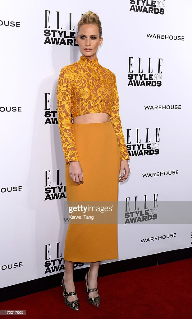 <a gi-track='captionPersonalityLinkClicked' href=/galleries/search?phrase=Poppy+Delevingne&family=editorial&specificpeople=2348985 ng-click='$event.stopPropagation()'>Poppy Delevingne</a> attends the Elle Style Awards 2014 at One Embankment on February 18, 2014 in London, England.