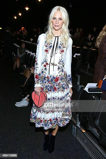 Poppy Delevingne attends the Erdem show during London Fashion Week Spring/Summer 2016 on September 21 2015 in London England