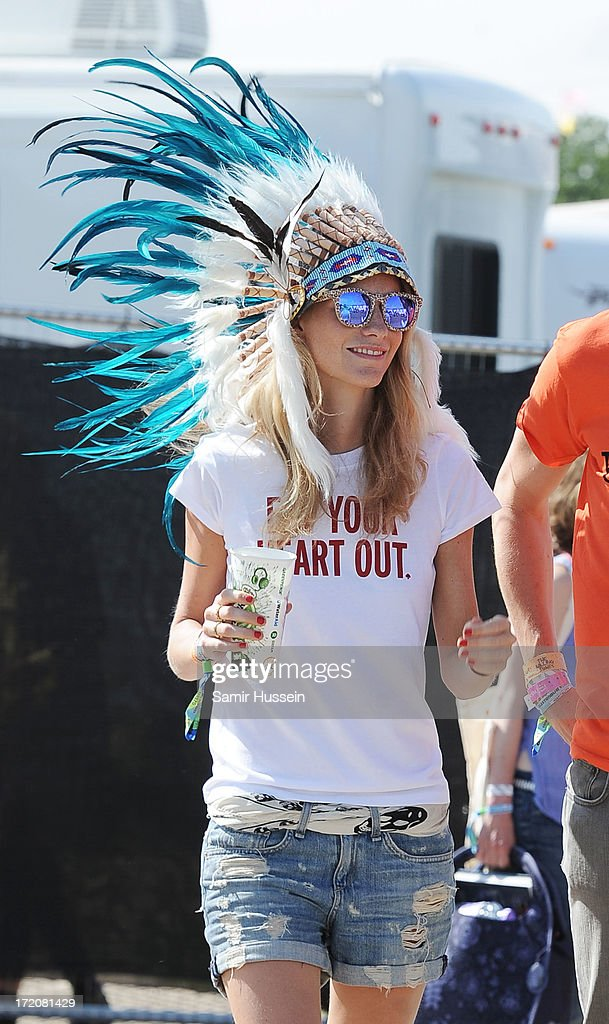 Poppy Delevingne attends the Glastonbury Festival of Contemporary Performing Arts at Worthy Farm, Pilton on June 30, 2013 in Glastonbury, England.