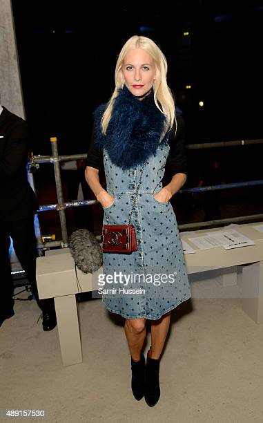 Poppy Delevingne attends the Henry Holland show during London Fashion Week Spring/Summer 2016/17 on September 19 2015 in London England