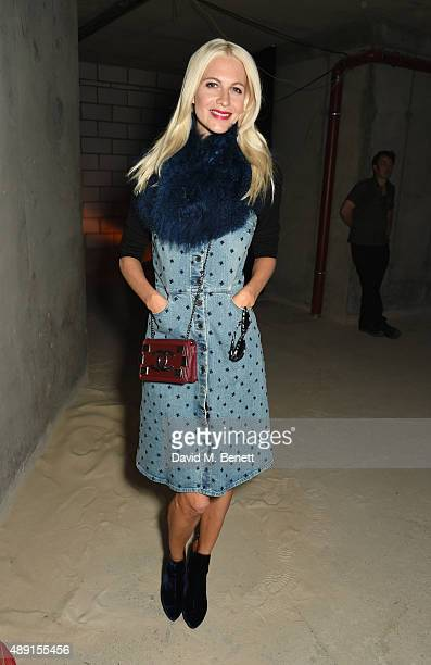Poppy Delevingne attends the House Of Holland show during London Fashion Week SS16 at Collins Music Hall on September 19 2015 in London England