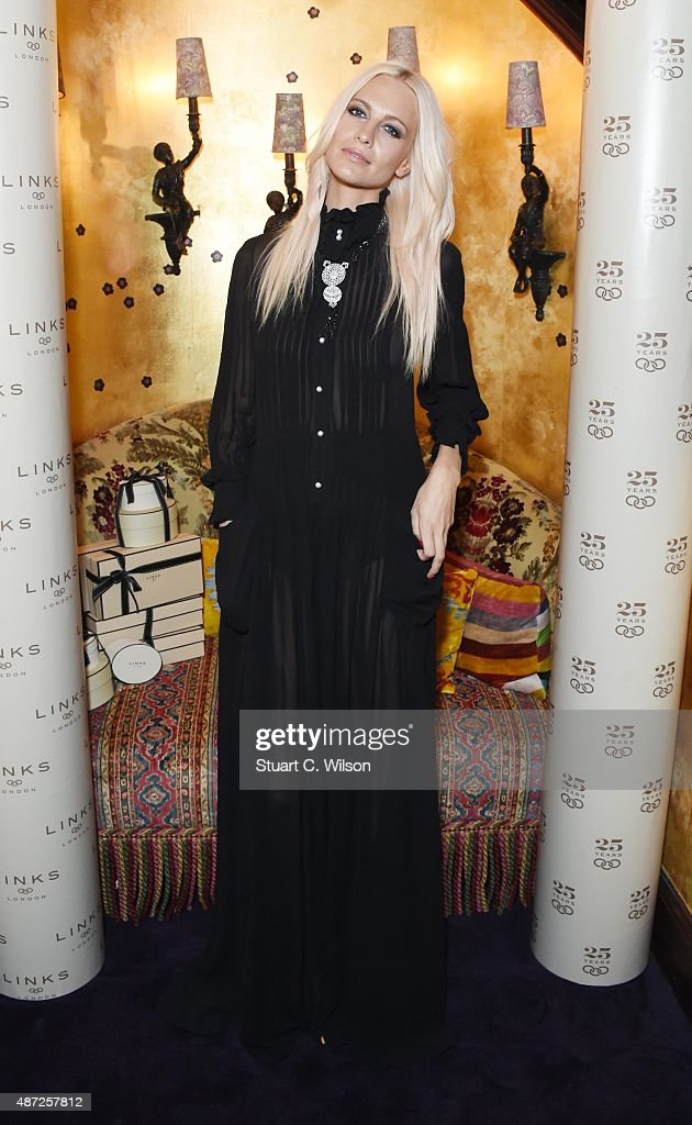 Poppy Delevingne attends the Links Of London 25th Anniversary Event at Loulou's on September 7, 2015 in London, England.