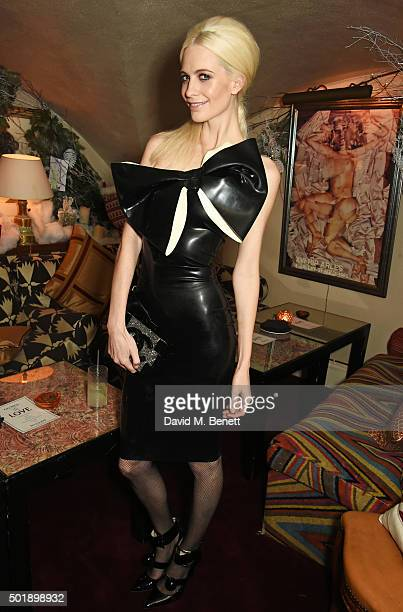 Poppy Delevingne attends the LOVE Christmas party at George on December 18 2015 in London England