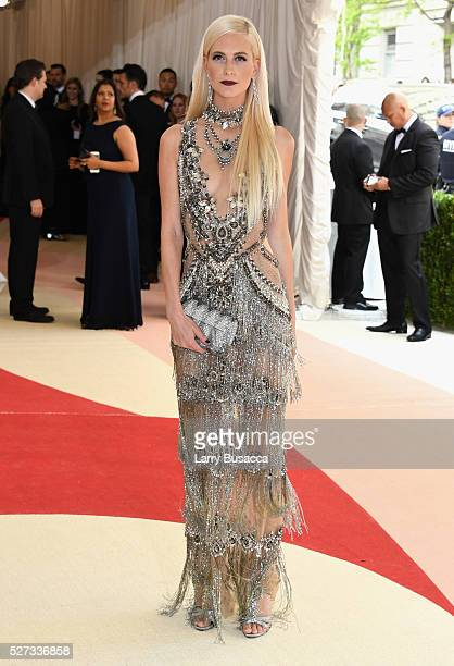 Poppy Delevingne attends the 'Manus x Machina Fashion In An Age Of Technology' Costume Institute Gala at Metropolitan Museum of Art on May 2 2016 in...