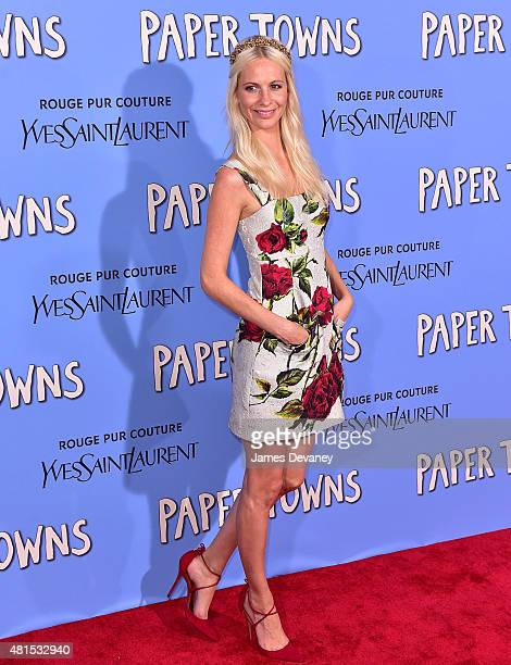 Poppy Delevingne attends the 'Paper Towns' New York Premiere at AMC Loews Lincoln Square on July 21 2015 in New York City