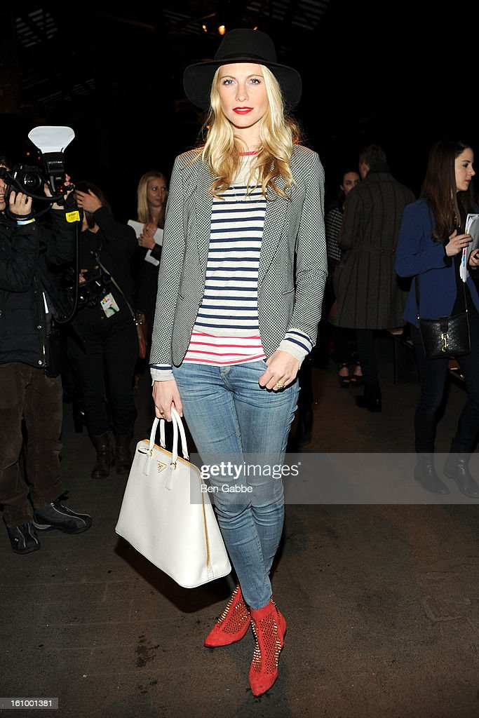 Poppy Delevingne attends the Rag & Bone Women's fall 2013 fashion show during Mercedes-Benz Fashion Week at Skylight Studios at Moynihan Station on February 8, 2013 in New York City.