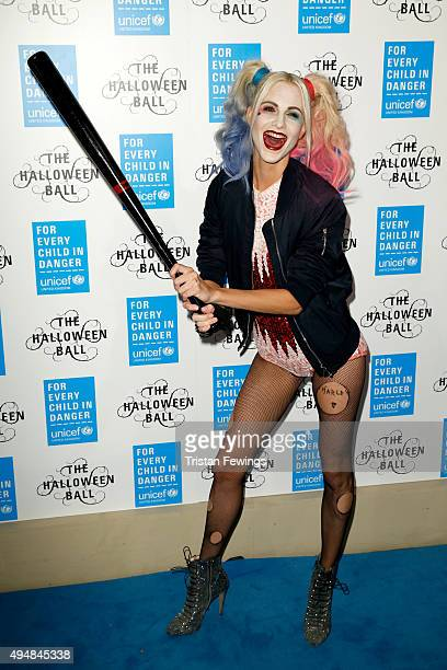 Poppy Delevingne attends the UNICEF Halloween Ball at One Mayfair on October 29 2015 in London England