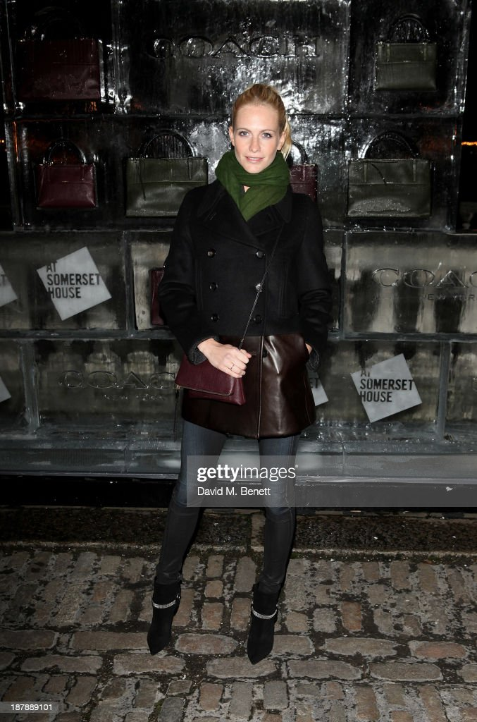 Poppy Delevingne attends the VIP launch of 'Coach Presents Skate' at Somerset House on November 13, 2013 in London, England.