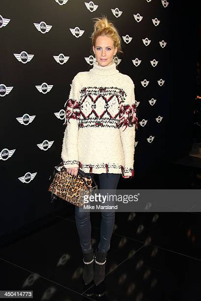 Poppy Delevingne attends the World Premiere of the new MINI at Old Sorting Office on November 18 2013 in London England