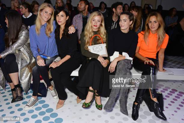 Poppy Delevingne Caroline Sieber Kate Foley Chelsea Leyland and Alexia Niedzielski attend the Anya Hindmarch SS15 Presentation during London Fashion...