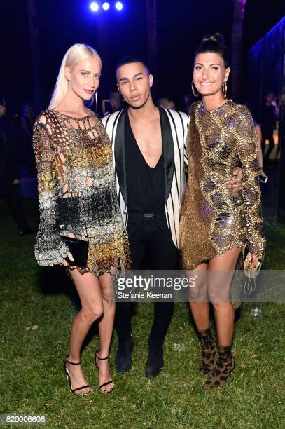 Poppy Delevingne designer Olivier Rousteing and Giovanna BattagliaEngelbert at BALMAIN celebrates first Los Angeles boutique opening and Beats by Dre...