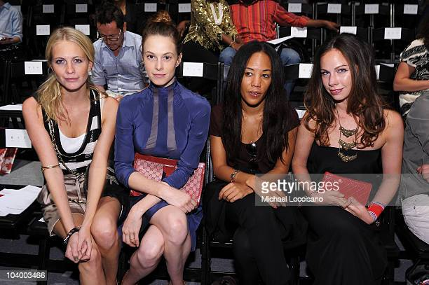 Poppy Delevingne Eletra Weidermann Maggie Betts and Barbara Bush attend the Prabal Gurung Spring 2011 fashion show during MercedesBenz Fashion Week...