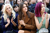 Poppy Delevingne Elisa Sednaoui and Miriam Yeung attends the Burberry Womenswear Spring/Summer 2016 show during London Fashion Week at Kensington...