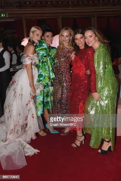 Poppy Delevingne Giovanna Battaglia Engelbert Lauren Santo Domingo Natalie Massenet and Alice Temperley during The Fashion Awards 2017 in partnership...