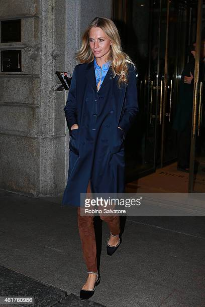 Poppy Delevingne is spotted out and about during Milan Fashion Week on January 18 2015 in Milan