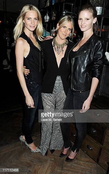Poppy Delevingne Kit Willow and Lara Stone attend the Willow Resort Party hosted by Kit Willow and Poppy Delevingne at The Riding House Cafe on June...