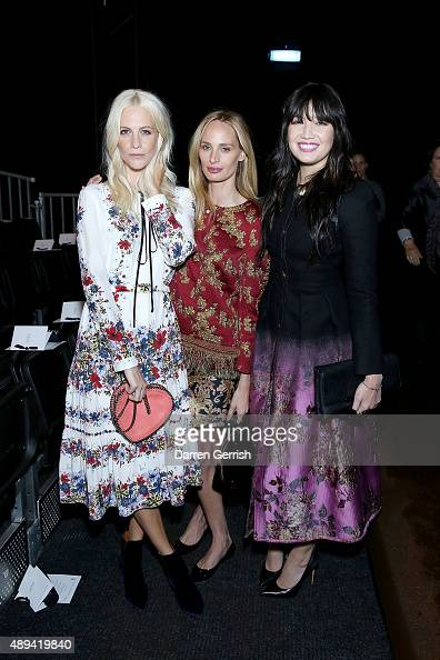 Poppy Delevingne Lauren Santo Domingo and Diasy Lowe attend the Erdem show during London Fashion Week Spring/Summer 2016 on September 21 2015 in...