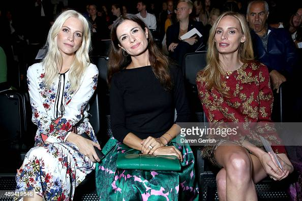 Poppy Delevingne Livia Firth and Lauren Santo Domingo attend the Erdem show during London Fashion Week Spring/Summer 2016 on September 21 2015 in...