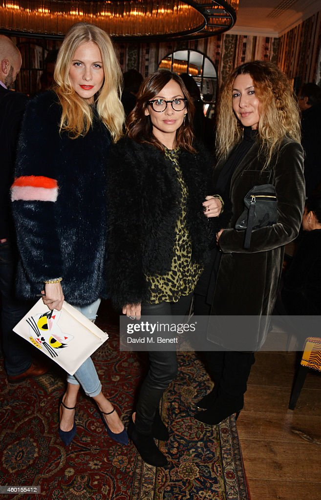 Poppy Delevingne, Natalie Imbruglia and guest attend a VIP screening of 'St. Vincent' hosted by Poppy Delevingne at The Covent Garden Hotel on December 8, 2014 in London, England.