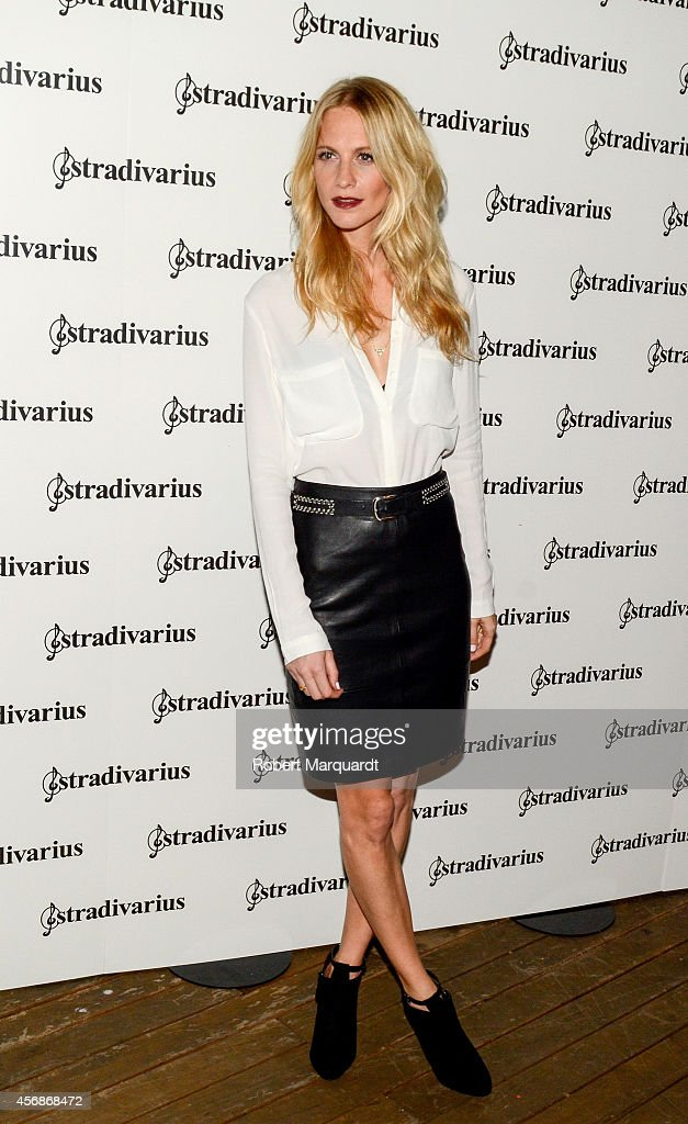 Poppy Delevingne poses during a photocall for 'The Event Paper' party by Stradivarius on October 8 2014 in Barcelona Spain