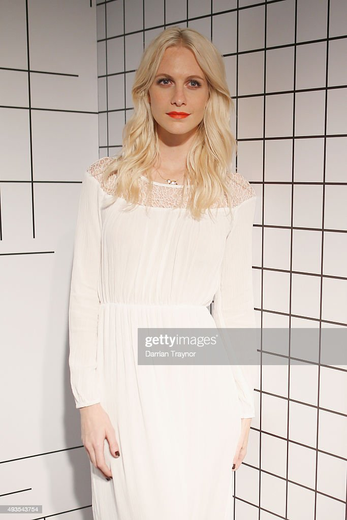 Poppy Delevingne poses for a photo at the launch of the first Australian MRP store at Melbourne Central on October 21, 2015 in Melbourne, Australia.