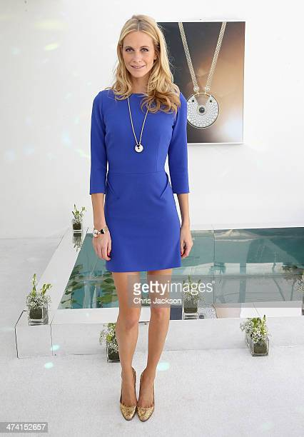 Poppy Delevingne poses in the Cartier Villa on the final day of the Cartier International Dubai Polo Challenge 9th edition at Desert Palm Hotel on...