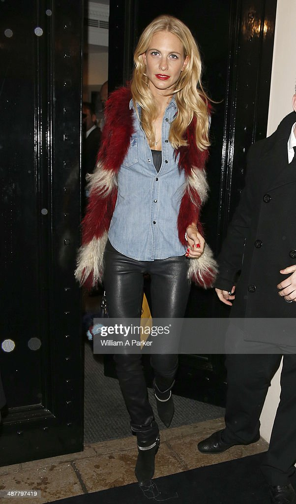 <a gi-track='captionPersonalityLinkClicked' href=/galleries/search?phrase=Poppy+Delevingne&family=editorial&specificpeople=2348985 ng-click='$event.stopPropagation()'>Poppy Delevingne</a> seen arriving at the Fendi launch party on May 1, 2014 in London, England.