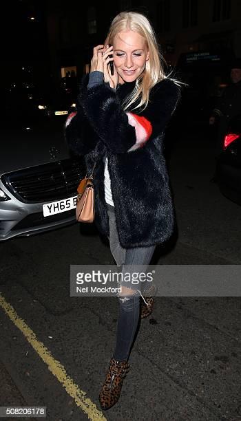 Poppy Delevingne seen at Claridges Hotel on February 1 2016 in London England
