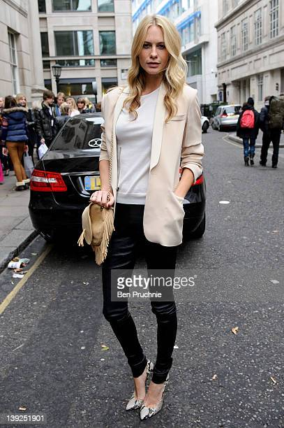 Poppy Delevingne sighted during LFW A/W 2012 on February 18 2012 in London England