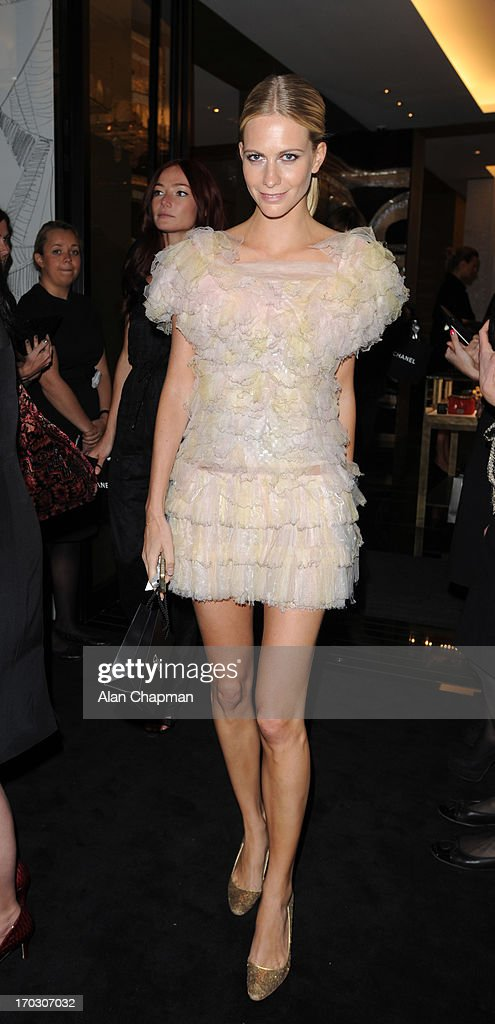 Poppy Delevingne sighting at the new CHANEL flagship store Mayfair on June 10, 2013 in London, England.