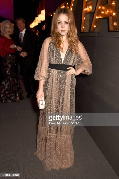 Poppy Elizabeth Jamie attends the 2017 Vanity Fair Oscar Party hosted by Graydon Carter at Wallis Annenberg Center for the Performing Arts on...