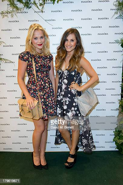 Poppy Jamie and Electra Formosa attend the Pandora Oxford Street store launch at Pandora Oxford Street on September 5 2013 in London England