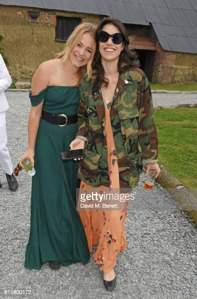 Poppy Jamie and Gala Gordon attend Greta Bellamacina and Robert Montgomery's wedding on July 8 2017 in Exeter England