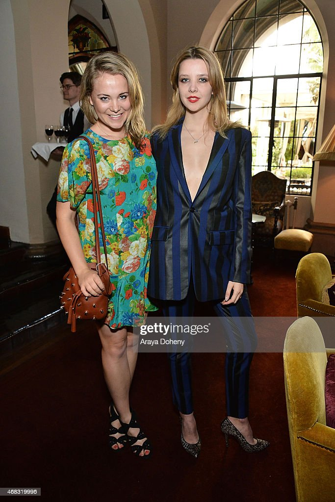 Poppy Jamie and Greta Bellamacina attend a private cocktail party to celebrate the launch of With Love A Collection of Contemporary British Love...