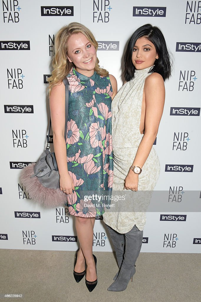 Poppy Jamie and Kylie Jenner attend the NIPFAB InStyle Tea Party at The London Edition Hotel on March 14 2015 in London England