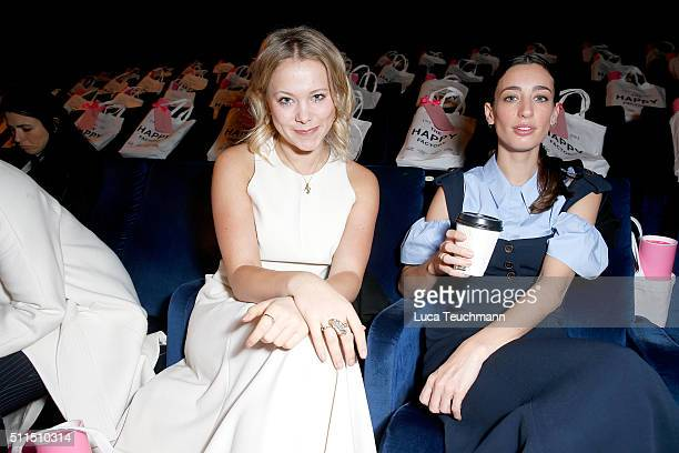 Poppy Jamie and Laura Jackson attend the Hill Friends Presentation show during London Fashion Week Autumn/Winter 2016/17 at on February 21 2016 in...