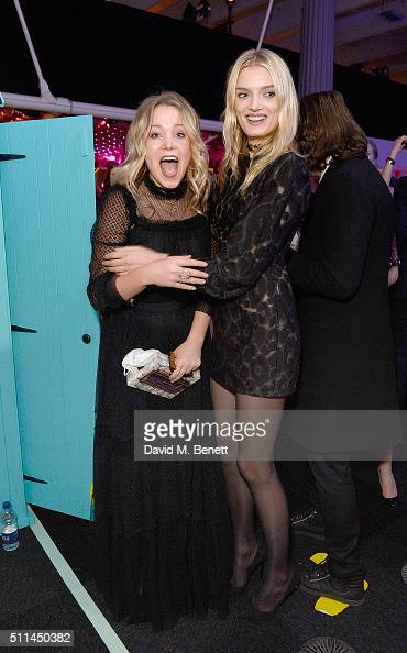 Poppy Jamie and Lily Donaldson at The Naked Heart Foundation's Fabulous Fund Fair in London at Old Billingsgate Market on February 20 2016 in London...