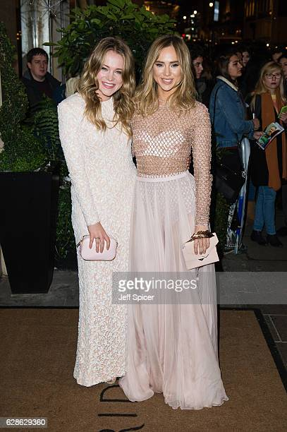 Poppy Jamie and Suki Waterhouse attend the Evening Standard Film Awards at Claridge's on December 8 2016 in London United Kingdom