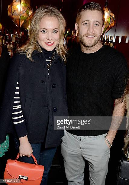 Poppy Jamie and Tyrone Wood attend a BAFTA Special Screening of Big Eyes hosted by Harvey Weinstein at Soho Hotel on January 4 2015 in London England