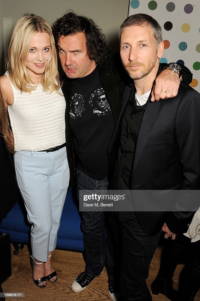 Poppy Jamie, Ant Glenn and guest attend the Teenage Cancer Trust party at The Groucho Club on May 15, 2013 in London, England.
