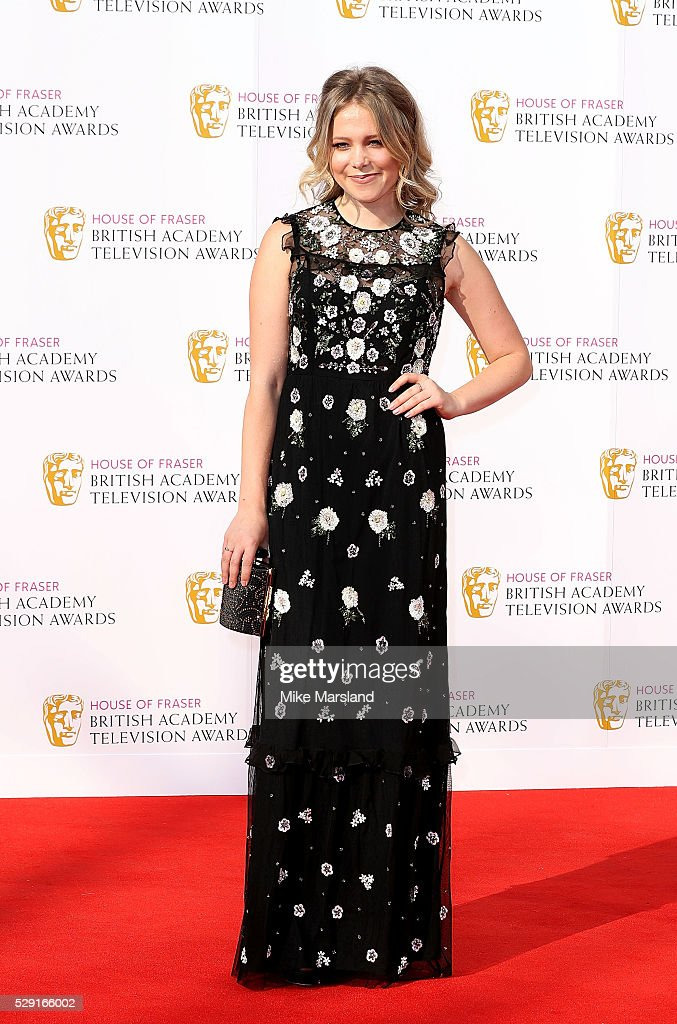 Poppy Jamie arrives for the House Of Fraser British Academy Television Awards 2016 at the Royal Festival Hall on May 8 2016 in London England