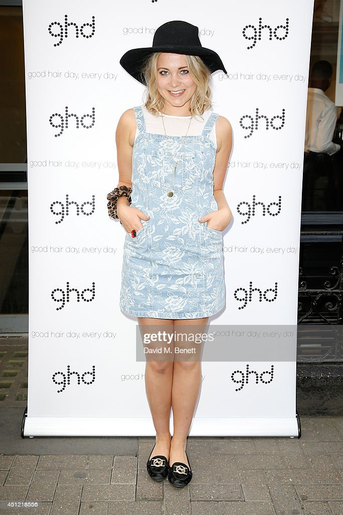 <a gi-track='captionPersonalityLinkClicked' href=/galleries/search?phrase=Poppy+Jamie&family=editorial&specificpeople=10619306 ng-click='$event.stopPropagation()'>Poppy Jamie</a> attends ghd's exhibition of iconic beauty must-haves to celebrate the launch of ghd aura, a ground-breaking drying and styling tool on June 25, 2014 in London, England.