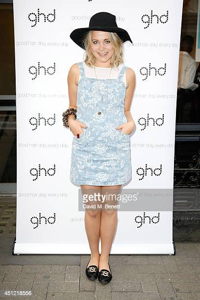 Poppy Jamie attends ghd's exhibition of iconic beauty musthaves to celebrate the launch of ghd aura a groundbreaking drying and styling tool on June...